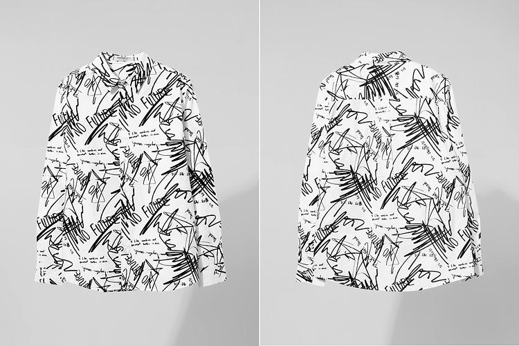 衬衫设计图片手绘图片