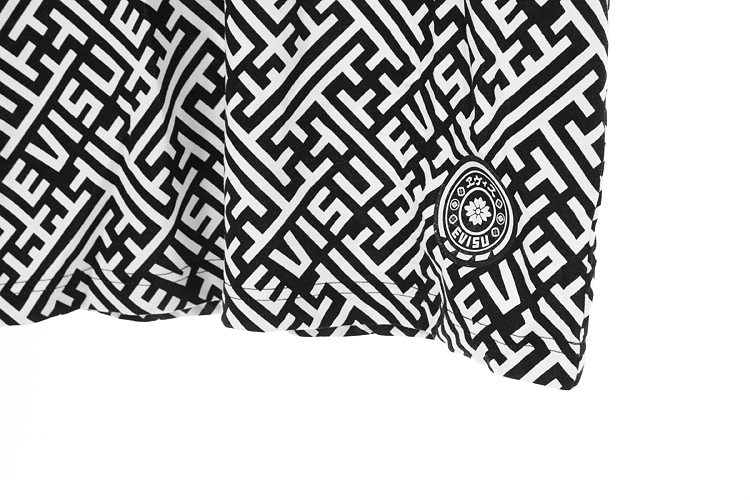 evisu t恤|evisu 迷宫格logo短袖t恤正品
