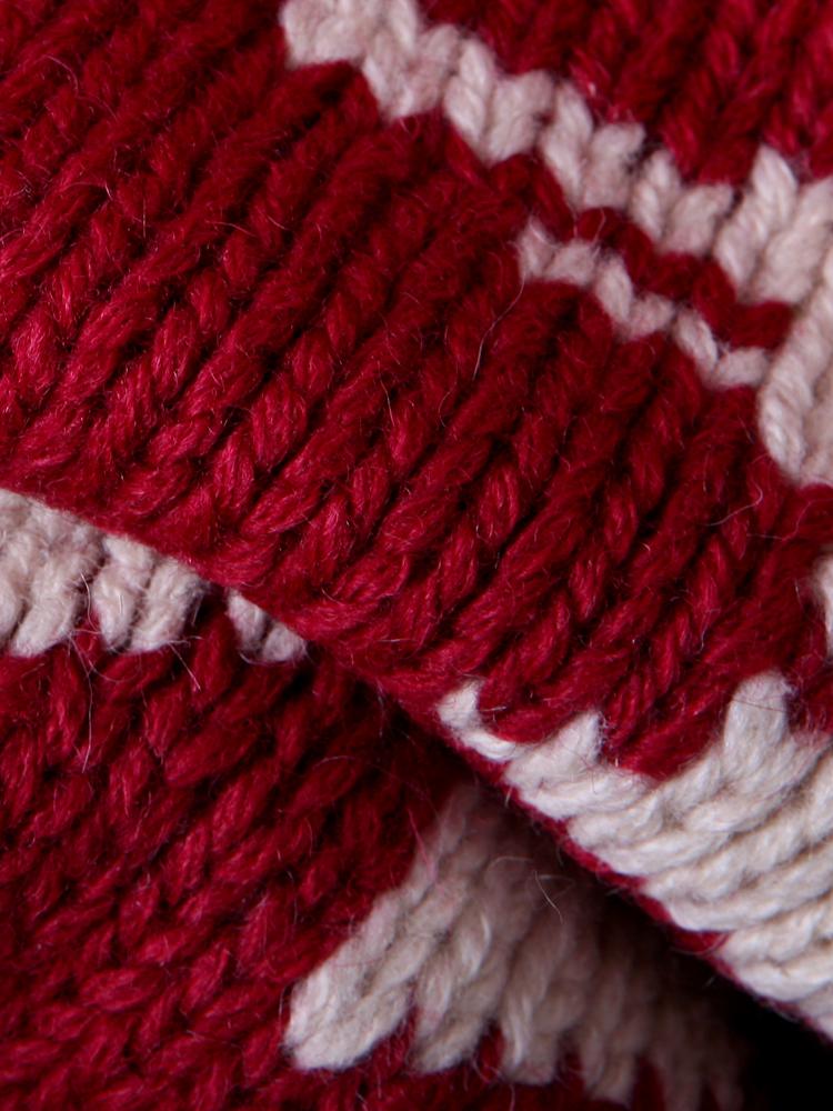 小羊图案围巾织法图解