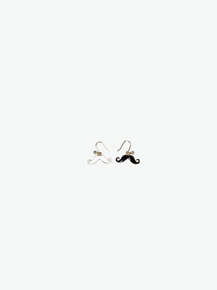 精致小巧的小胡子造型耳环