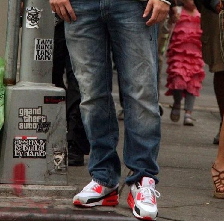 nike air max 90 barefoot 男子运动鞋以上世纪90年代的经高清图片