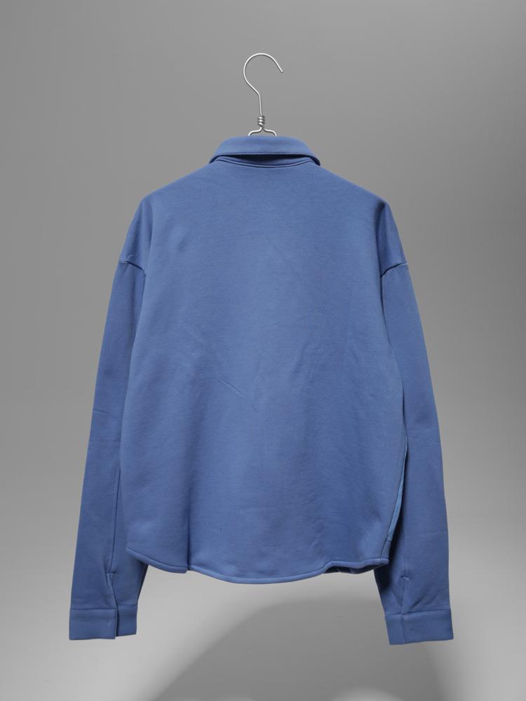 tyakasha 蓝色拼接条纹衬衫外套