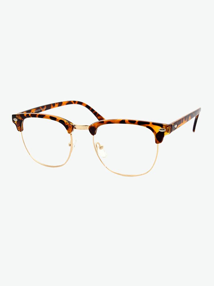 natkiel 豹纹半框眼镜