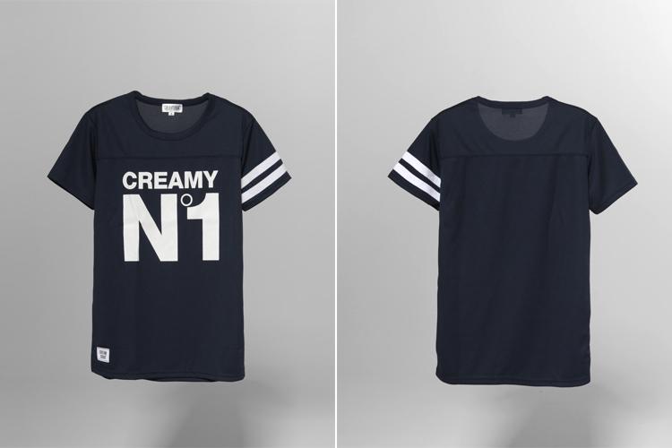 creamsoda 字母印花t恤