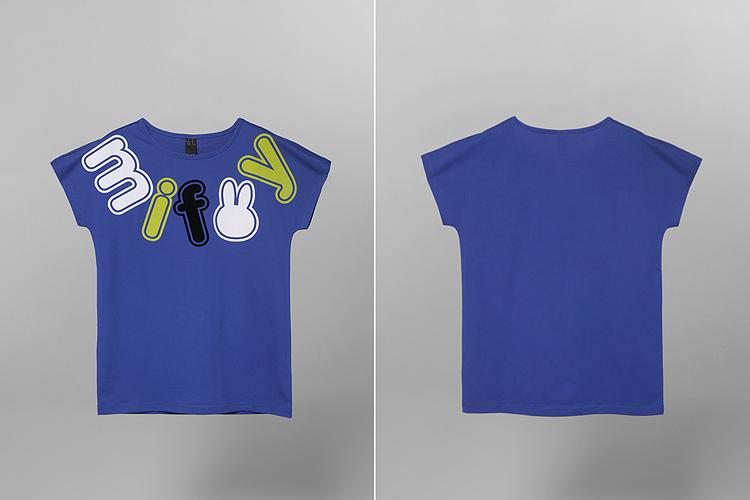 米菲可爱字母短袖t恤