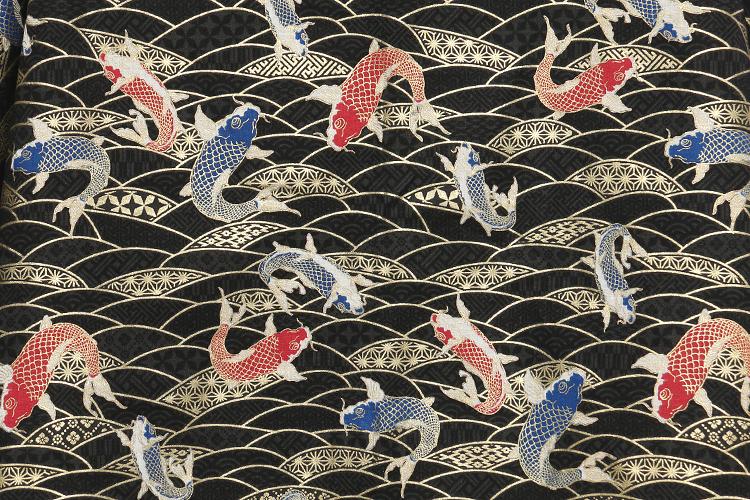 复古日本和风海浪金鲤鱼