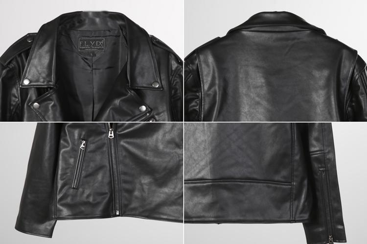 d 皮衣|f.l.y.d 暗黑袖章机车夹克正品 |yoho!