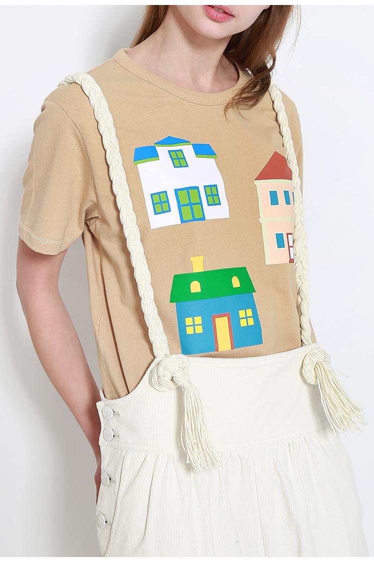手绘t恤房子